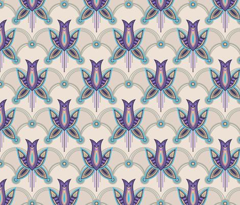 Dakota Deco Floral fabric by mylesdesigns on Spoonflower - custom fabric