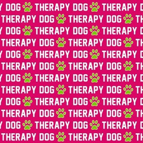 Therapy Dog Pink Paws