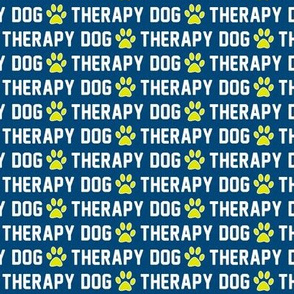 Therapy Dog Blue Paws