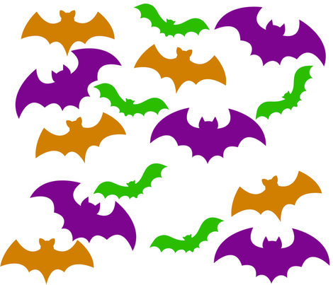 Batty For Bats 1 fabric by thedevilsdame on Spoonflower - custom fabric
