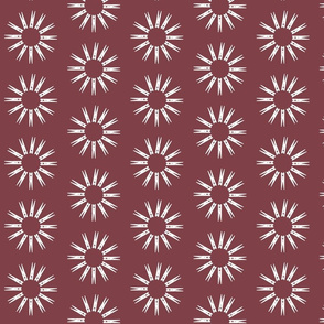Clothespin Daisies on Turkey Red