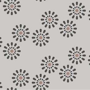 Design for baby blanket gray fireworks