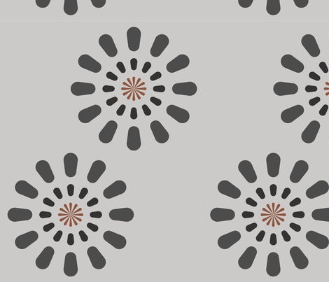 Soft gray fireworks fabric by aurora_quilling on Spoonflower - custom fabric