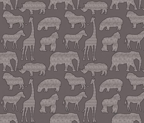 Gender Neutral Safari Design fabric by lanrete58 on Spoonflower - custom fabric