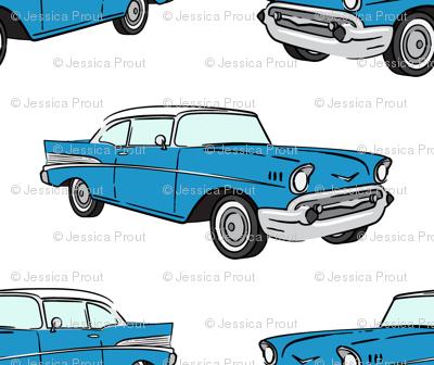 Classic Car - Sedan - 50s 60s -  blue
