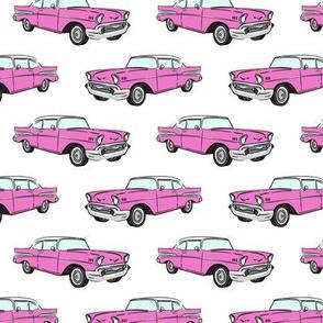 Classic Car - Sedan - 50s 60s - hot pink
