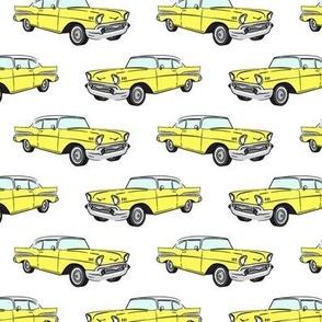 Classic Car - Sedan - 50s 60s - yellow