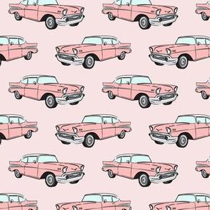 Classic Car - Sedan - 50s 60s - pink on pink