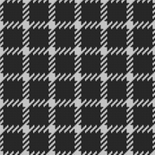 Simple grid knitted plaid in black Small
