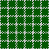 Simple grid knitted plaid in green Small