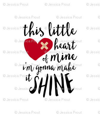"(10.5"" x 12.5"" panel) This little heart of mine 