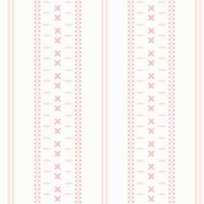 Cross Ladder Stripe: Millennial Pink Stripe