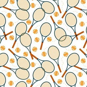 Tennis Rackets Scattered