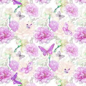 irises and peony