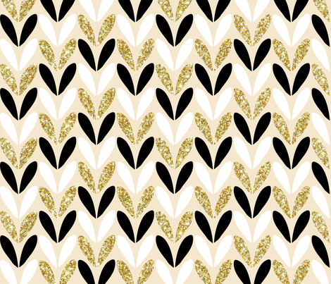 glitter in stitches - gold fabric by booboo_collective on Spoonflower - custom fabric