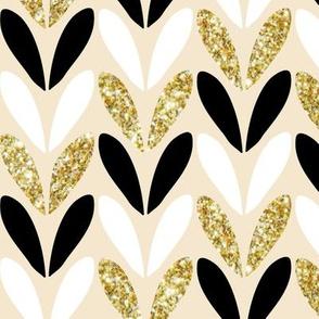 glitter in stitches - gold