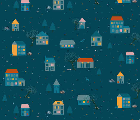 Village fabric by agathests on Spoonflower - custom fabric