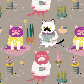 Cats in Jumpers by Mount Vic and Me