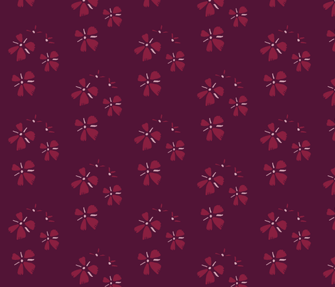 Small bordeaux flowers fabric by mesh_and_cloth on Spoonflower - custom fabric