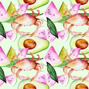 Crab Avocado & Watermelon Salad