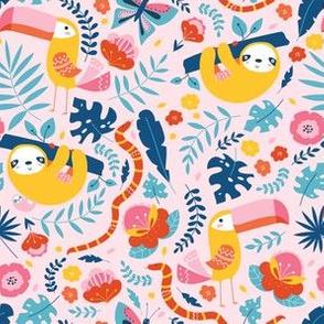 Rainforest on pink