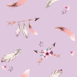 Bohoo - feathers - lavender