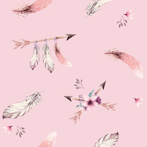 Bohoo - feathers - pink