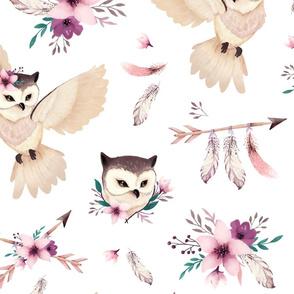 Bohoo owl - BIG