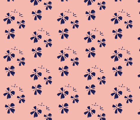 Flowers on pink fabric by mesh_and_cloth on Spoonflower - custom fabric