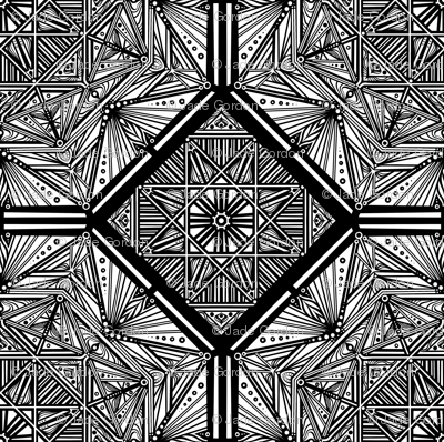 Black and White Octagon 1