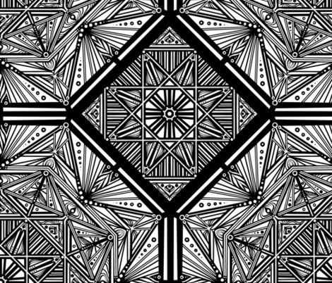 Black and White Octagon 1 fabric by jadegordon on Spoonflower - custom fabric