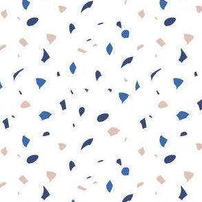 Terrazzo Blue on White 02