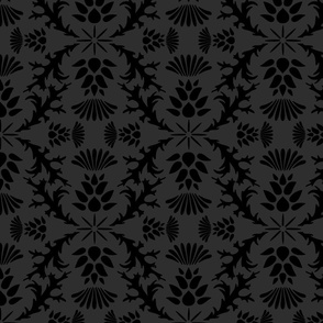 Black Thistle Damask