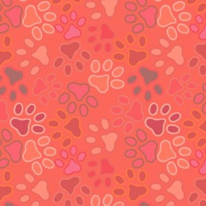 paws multi pink spring summer repeat pattern
