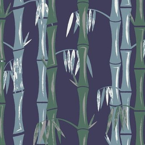 Bamboo Forest Blue Green White