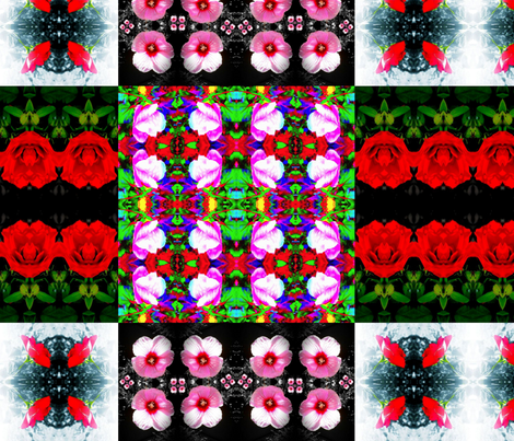 Tranquil flowers fabric by bejilledbyjillimac_designs on Spoonflower - custom fabric