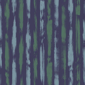 Brush Stroke Stripes  Blue Green
