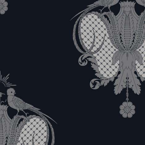 Quintana's royal quetzal v13 fabric by q's_designs on Spoonflower - custom fabric