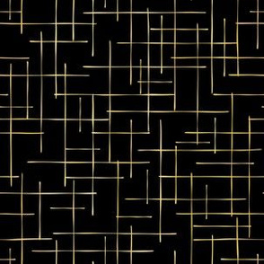 Luxe Gold Criss Cross Weave Hand Drawn Vector Pattern