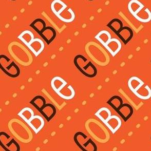 Thanksgiving Turkey Gobble Gobble Thanksgiving Pattern Diagonal Fall Colors