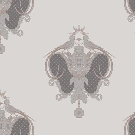 Quintana's royal quetzal v10 small fabric by q's_designs on Spoonflower - custom fabric