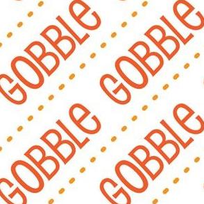 Thanksgiving Turkey Gobble Gobble Thanksgiving Pattern Diagonal Orange