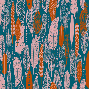 Feathers - Limited Color Palette