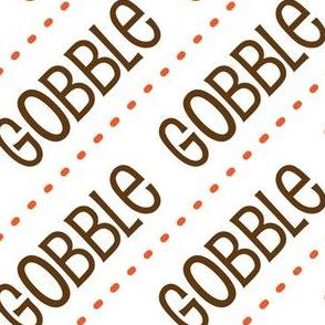 Thanksgiving Turkey Gobble Gobble Thanksgiving Pattern Diagonal Orange Brown