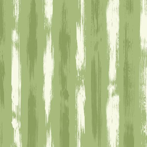 Brush Stroke Stripes Green  White fabric by wickedrefined on Spoonflower - custom fabric