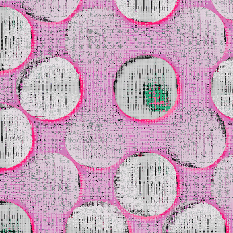Uh Oh Ping Pong (Pink) fabric by david_kent_collections on Spoonflower - custom fabric