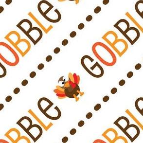 Thanksgiving  Turkey Gobble Gobble Thanksgiving Pattern Diagonal