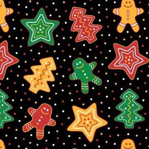 Gingerbread Cookies Black