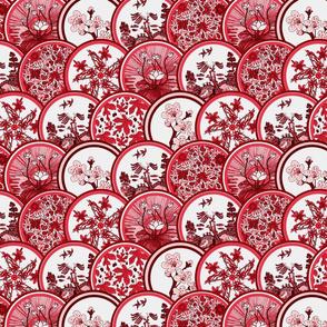 Red plates medium