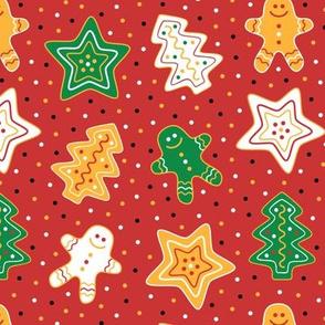 Gingerbread Cookies Red